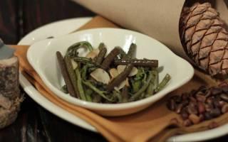 Лист папоротника салат