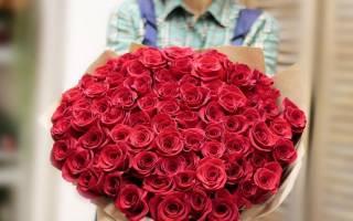 Красная красивая роза
