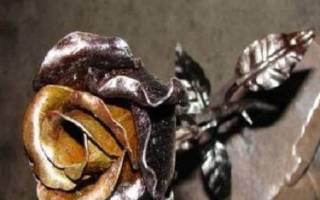 Роза металлическая своими руками